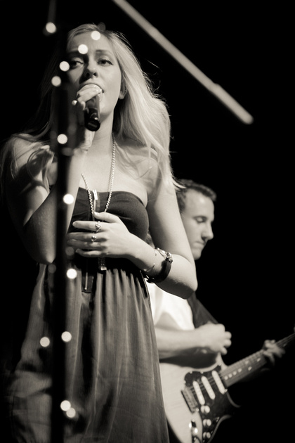 Jonnie and Brookie performing at the Freeman Coliseum in San Antonio, TX, as part of GirlExpo 2012