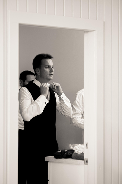 Richard McBlane Wedding Photography - the groom getting ready