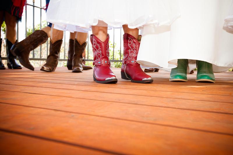 Richard McBlane Wedding Photography - bride in cowboy boots