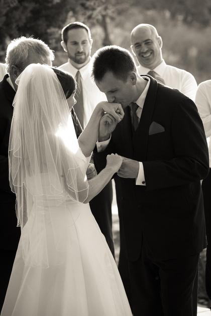 Richard McBlane Wedding Photography - bride and groom during ceremony