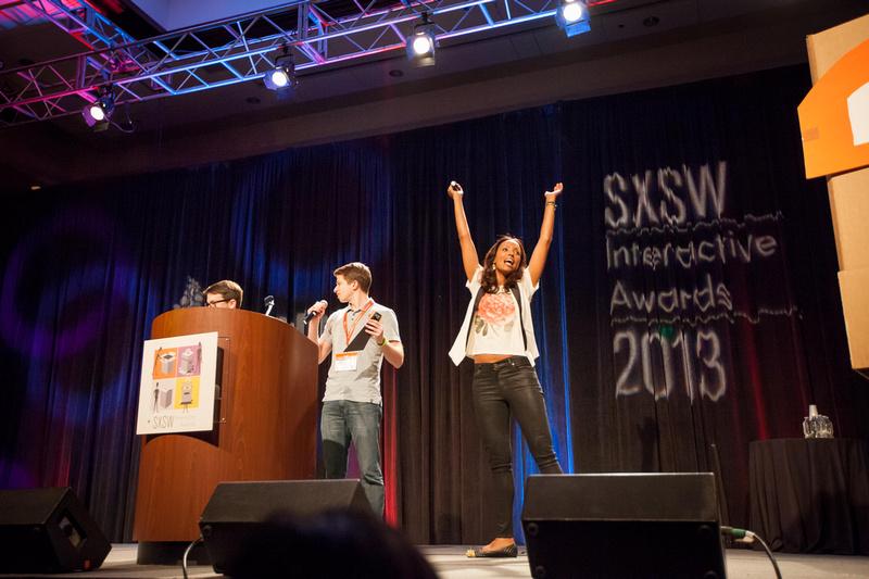 Aisha Tyler at the SXSW 2013 Interactive Awards, Hilton Grand Ballroom, Austin, TX