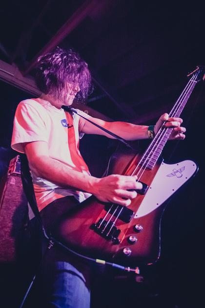 SXSW 2013 - Mark Hamilton of Ash, playing at the 101X showcase at Buffalo Billiards, Austin, TX