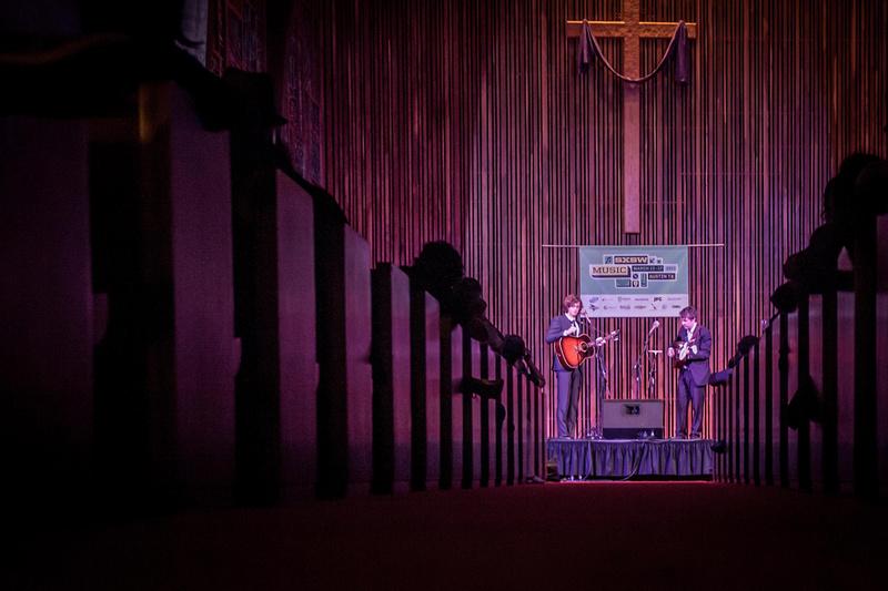 SXSW 2013 - The Milk Carton Kids at the Central Presbyterian Church, Austin, TX
