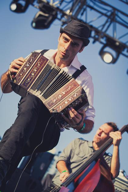 SXSW 2013 - Martín Ferrés of Bajofondo at Auditorium Shores, Austin, TX