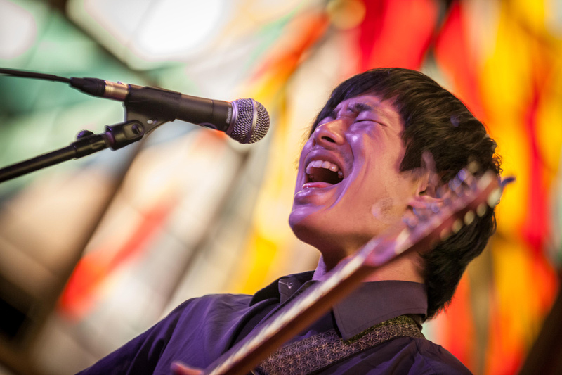 SXSW 2013 - Dustin Wong at the Central Presbyterian Church, Austin, TX