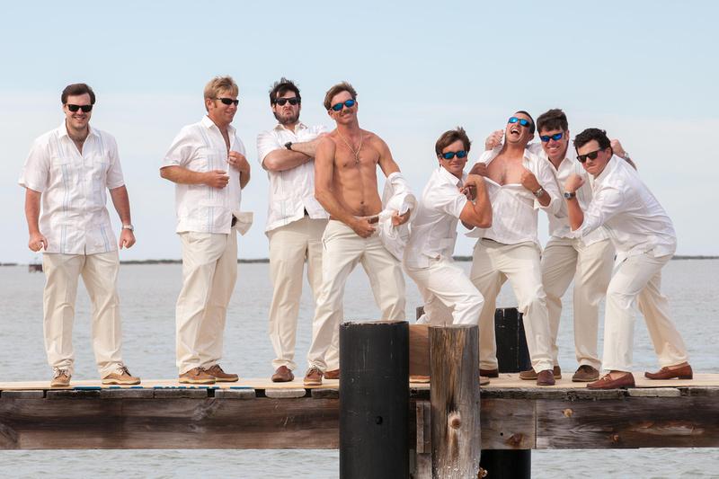 Groom and Groomsmen - Richard McBlane Wedding Photography, Aransas Pass, Port Aransas, Austin, Texas