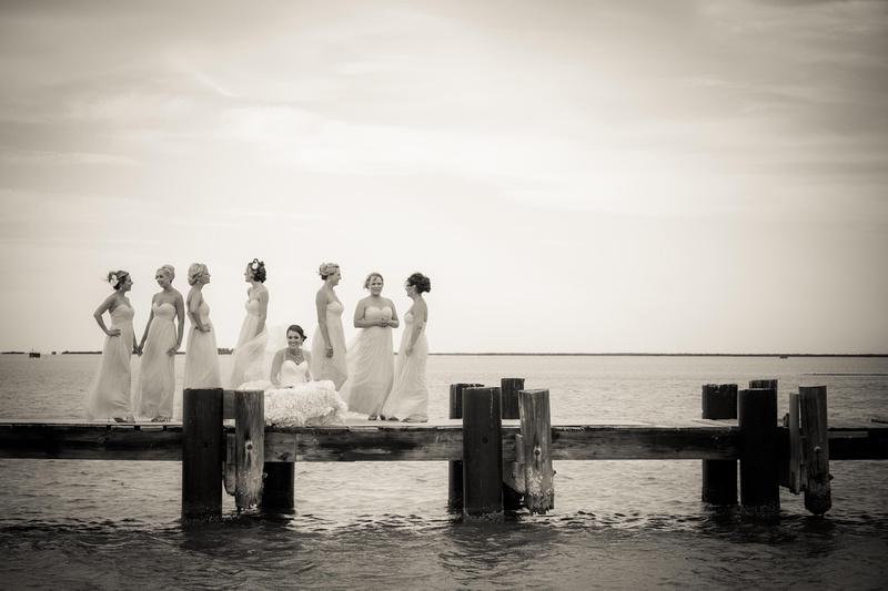 Bride & Bridesmaids - Richard McBlane Wedding Photography, Aransas Pass, Port Aransas, Austin, Texas